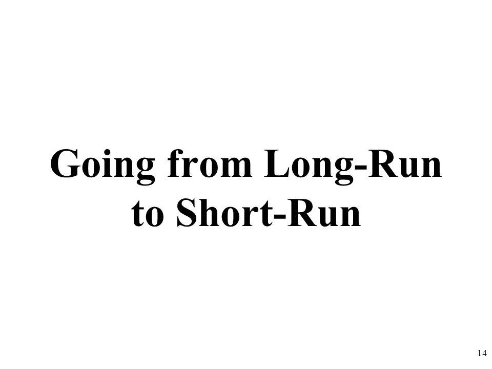 Going from Long-Run to Short-Run 14