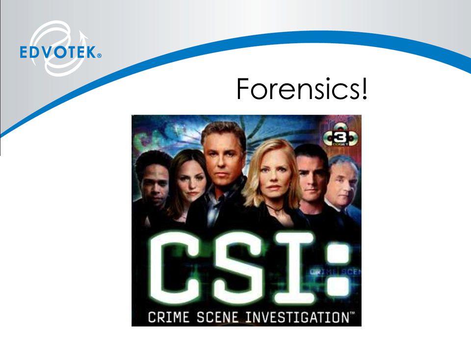 Forensics!