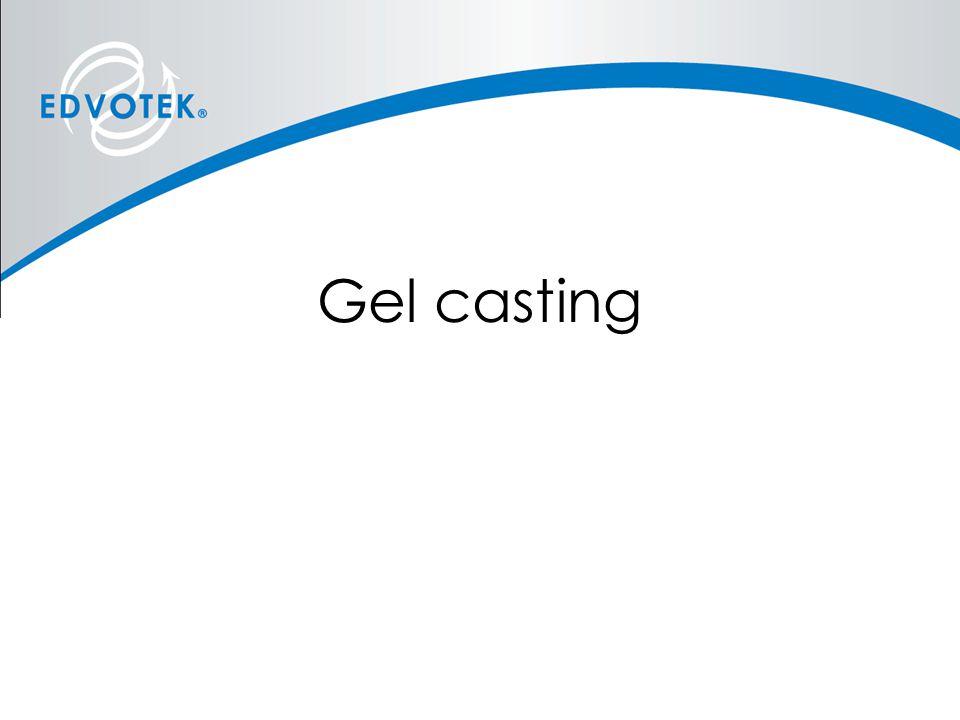 Gel casting