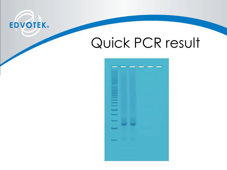Quick PCR result