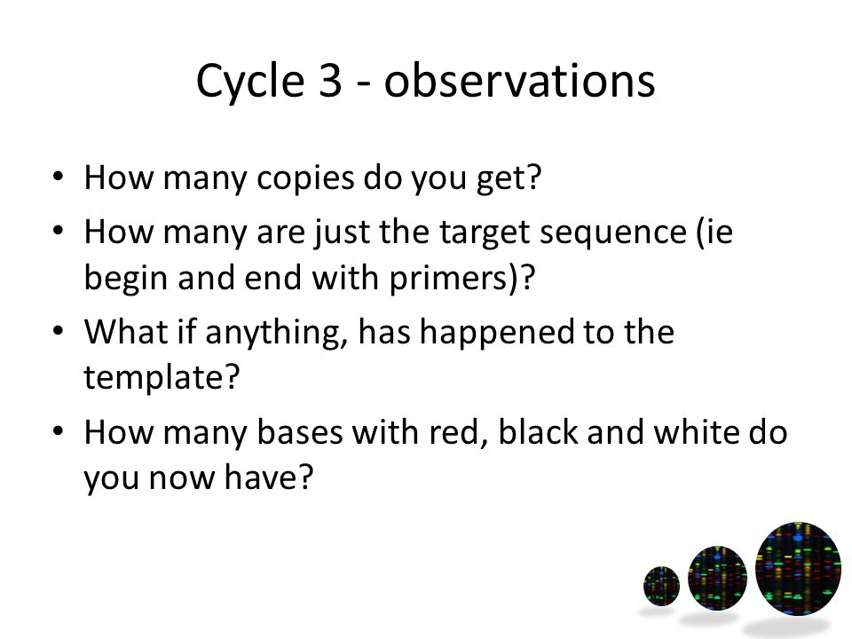 Cycle 3 - observations How many copies do you get.