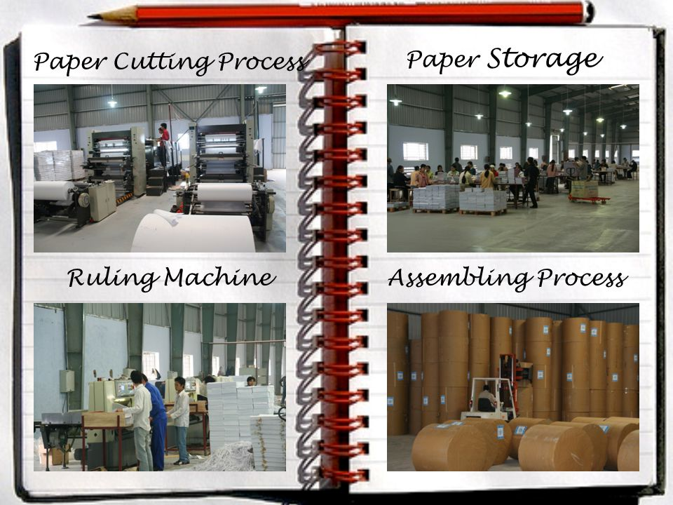 Paper Storage Paper Cutting Process Ruling MachineAssembling Process