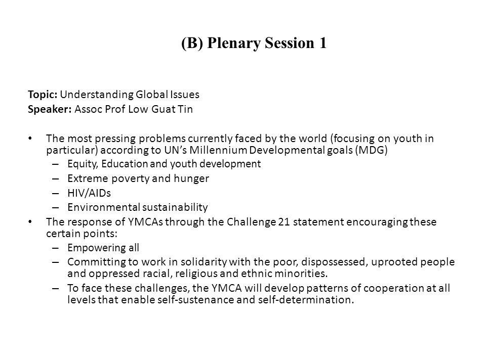 Topic: Social Enterprise: Inspiring Change Speaker: Ms.