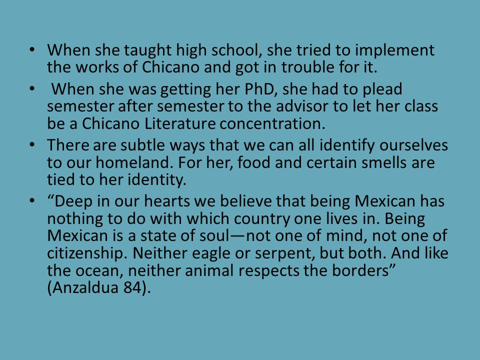 Chapter 5 Continued… People may think that Chicanos and Latinos are the same, but in this section It talks about how chicanas feel uncomfortable talki