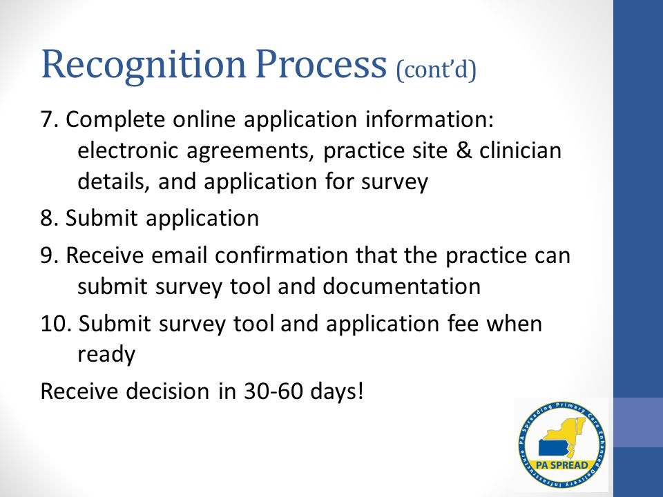 Recognition Process (cont'd) 7.