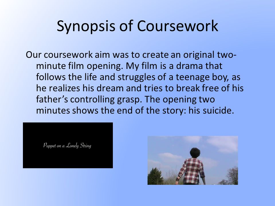 Narrative The narrative of my film is a non-linear structure, showing the end of the story at the beginning of the film, with the rest of the film showing the events that lead up to the conclusion of the plot- his death.