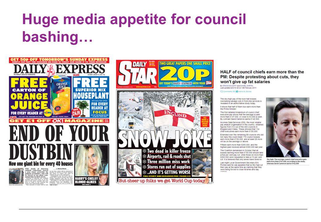 Huge media appetite for council bashing…