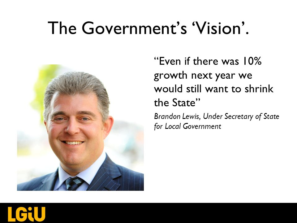 The Government's 'Vision'.