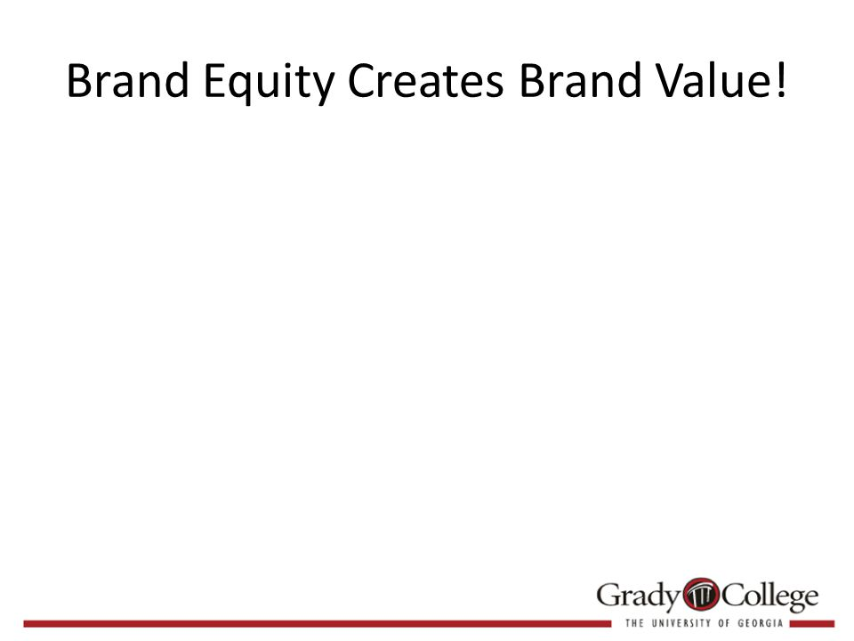 Brand Equity Creates Brand Value!