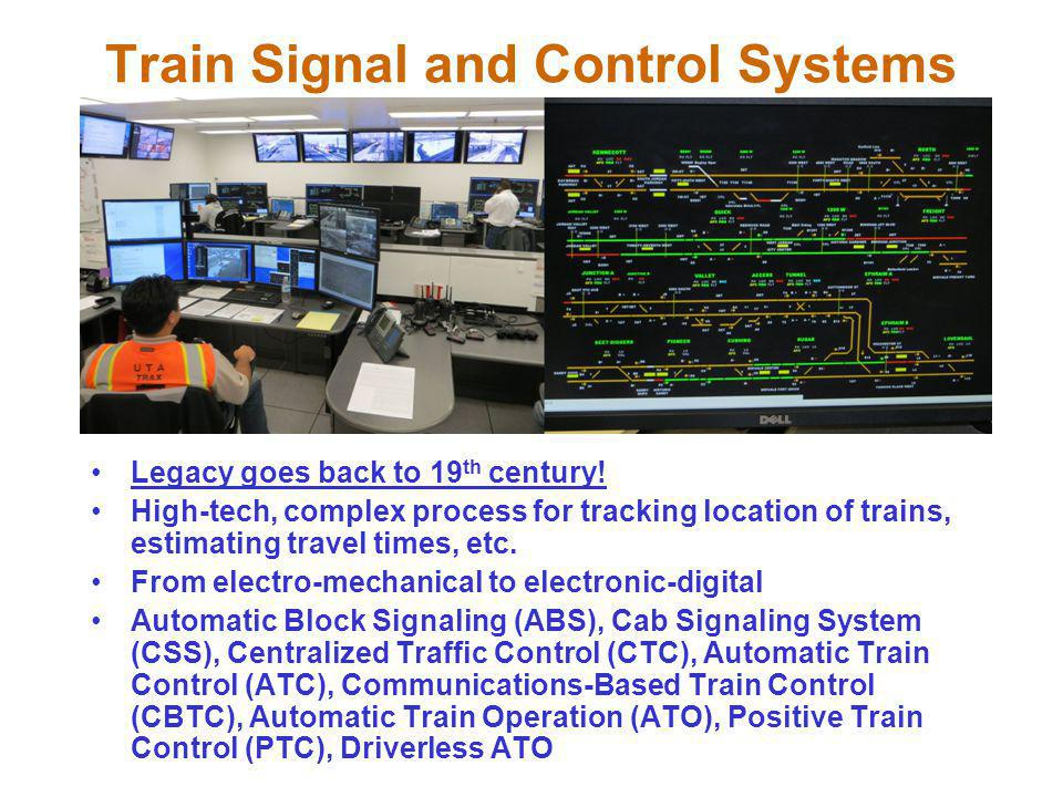 Train Signal and Control Systems Legacy goes back to 19 th century.