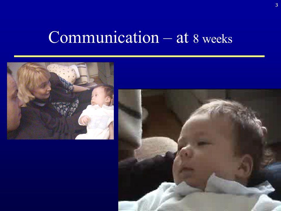 Communication – at 8 weeks 3