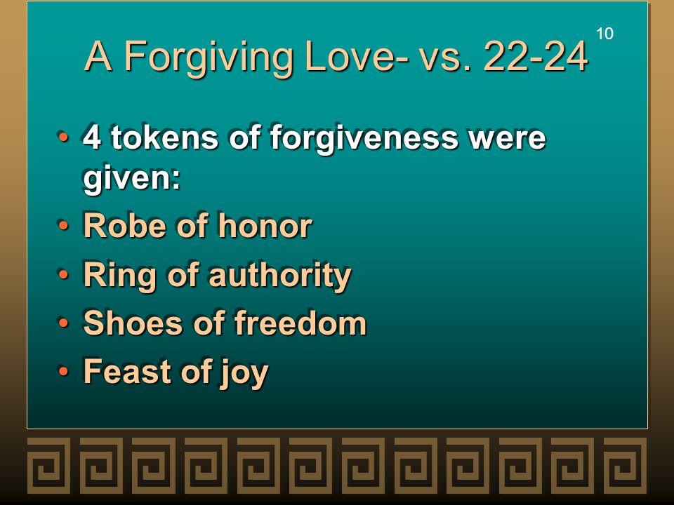 10 A Forgiving Love- vs.