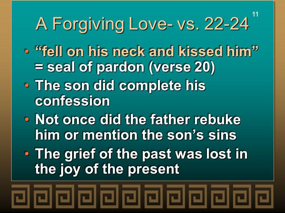 11 A Forgiving Love- vs.
