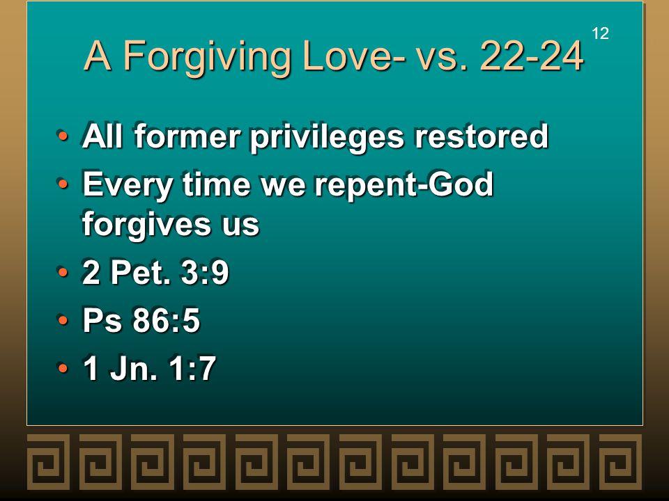 12 A Forgiving Love- vs.
