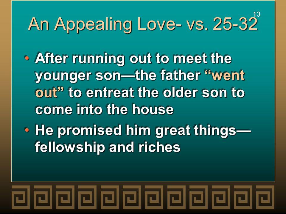 13 An Appealing Love- vs.