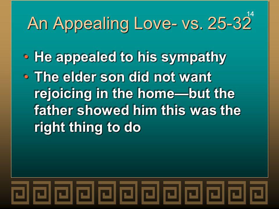 14 An Appealing Love- vs.