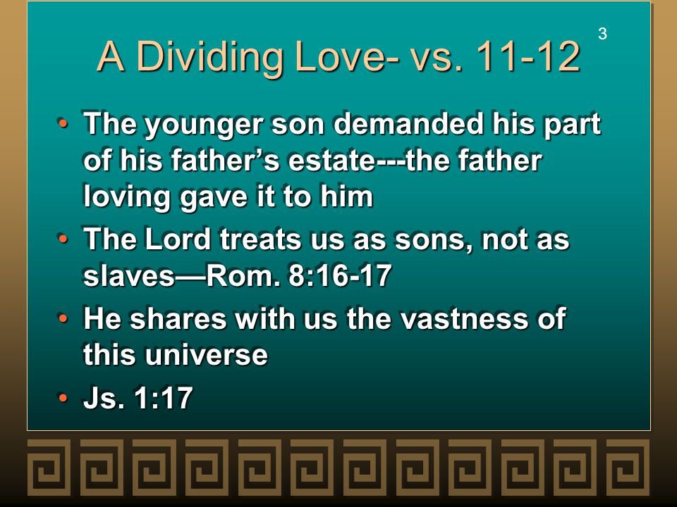 3 3 A Dividing Love- vs.