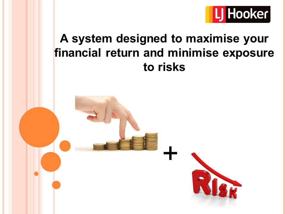 A system designed to maximise your financial return and minimise exposure to risks +