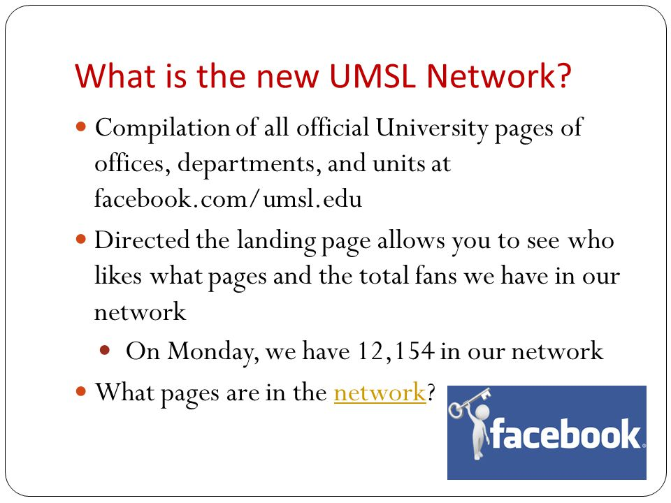 Growth of UMSL Network