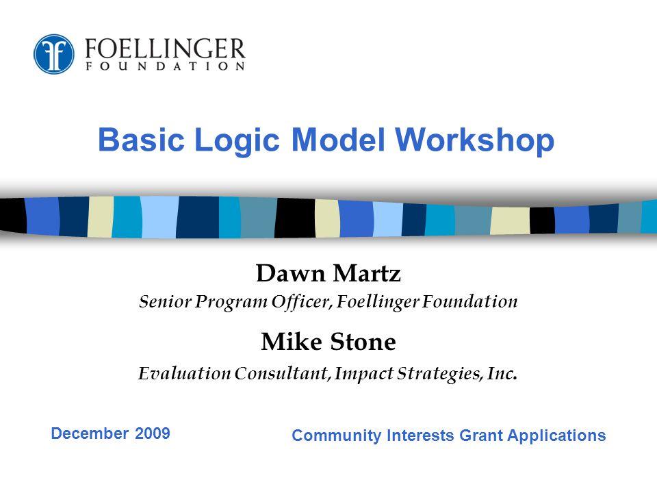 Time to work on individual logic models