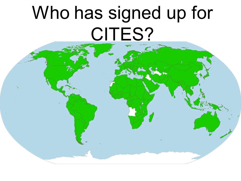 Who has signed up for CITES