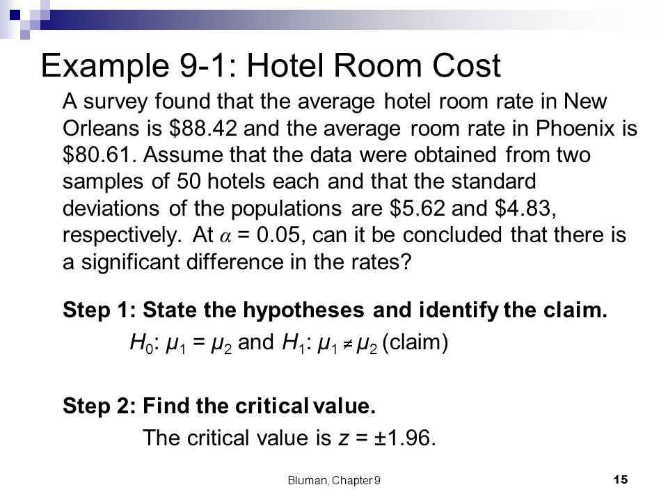 Table of information Sample 1 Use the context Sample 2 Use the context A survey found that the average hotel room rate in New Orleans is $88.42 and th