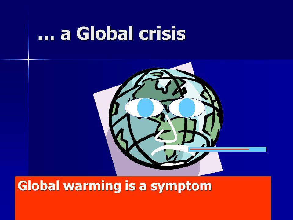 Global warming is a symptom