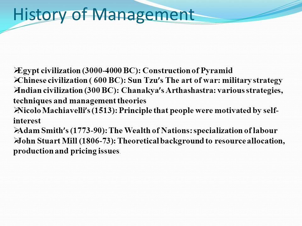 Theories of Management Scientific Management Theory (1890-1940) Frederick Taylor /careful specification and measurement of all organizational tasks.Tasks were standardized as much as possible.