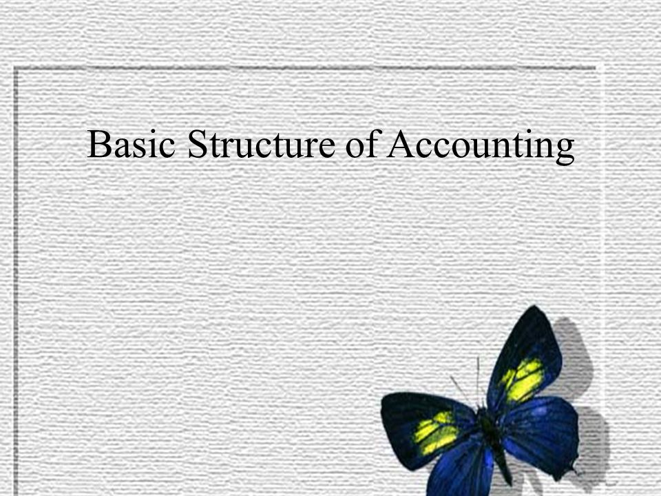 Basic Structure of Accounting