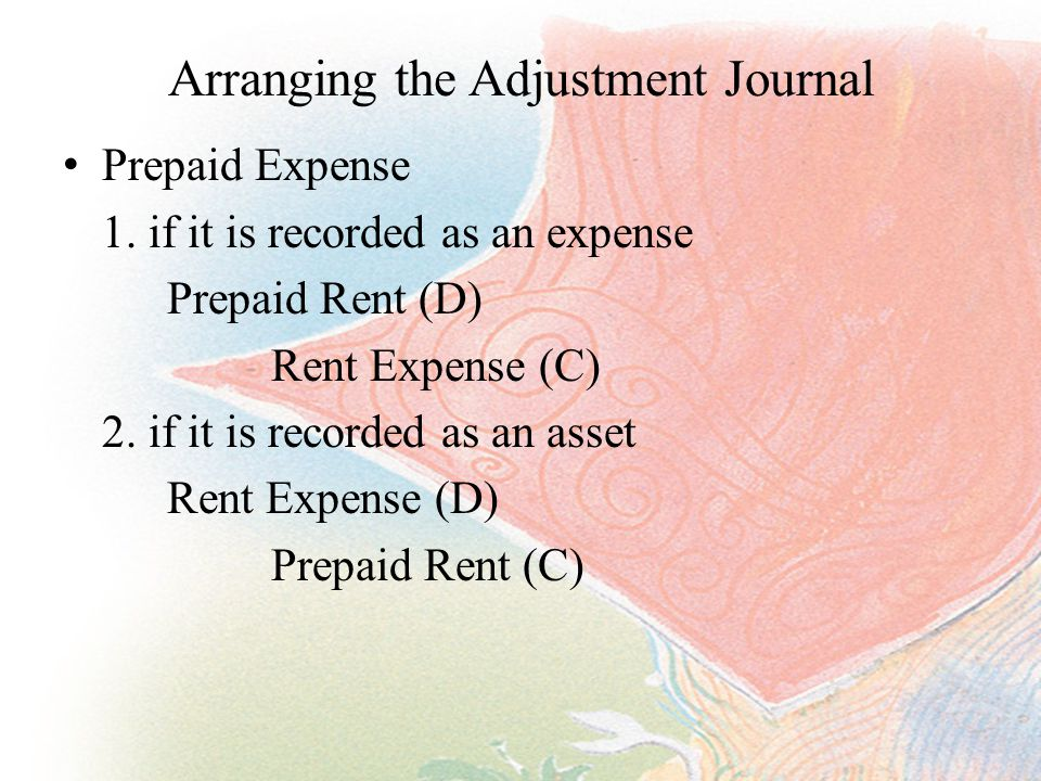 Arranging the Adjustment Journal Prepaid Expense 1.
