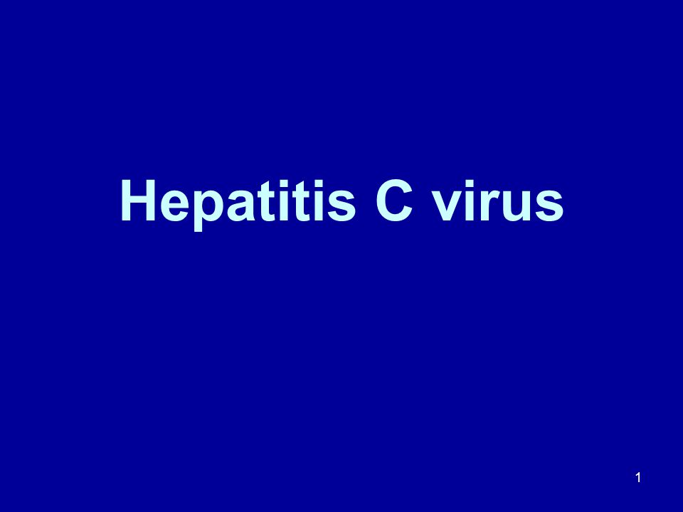 Hepatitis C virus 1