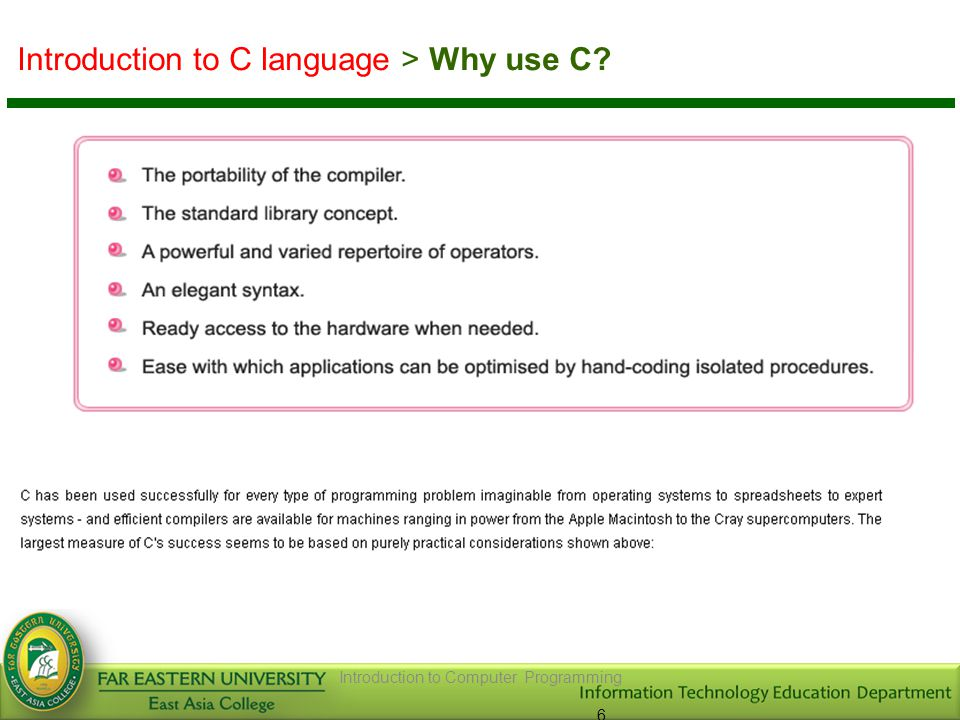Introduction to C language > Identifiers