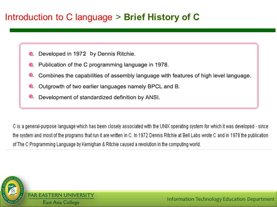 Introduction to C language > Advantages of C
