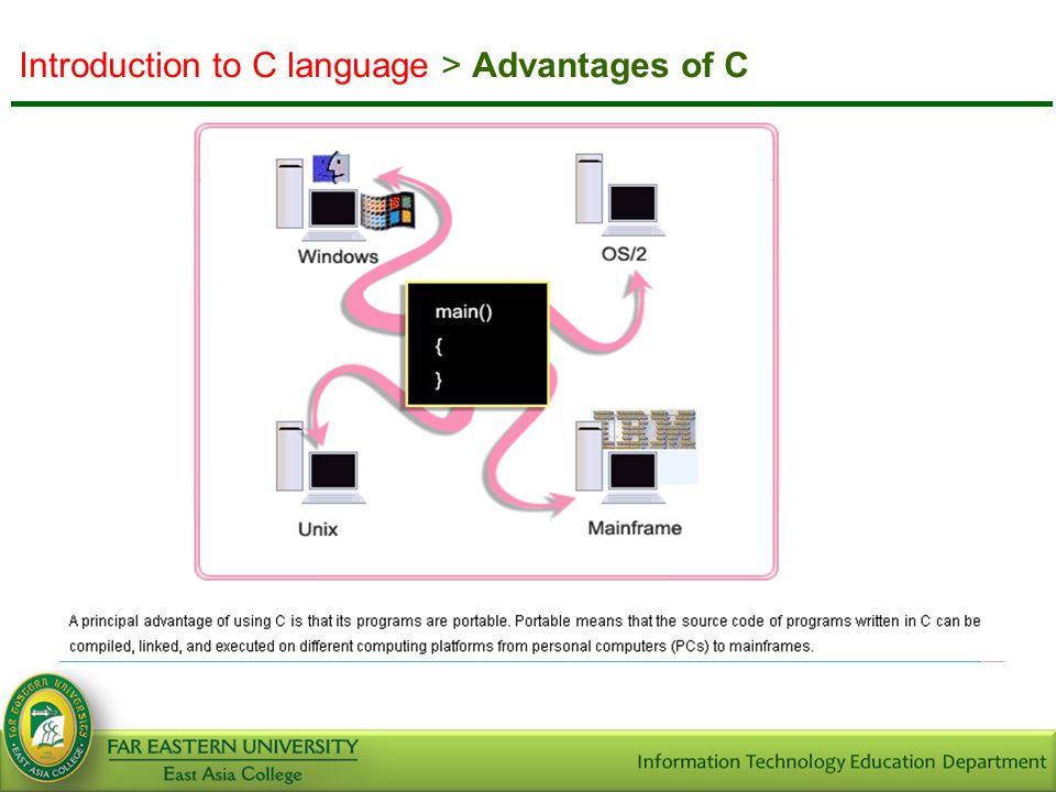 Introduction to C language > Running C Programs