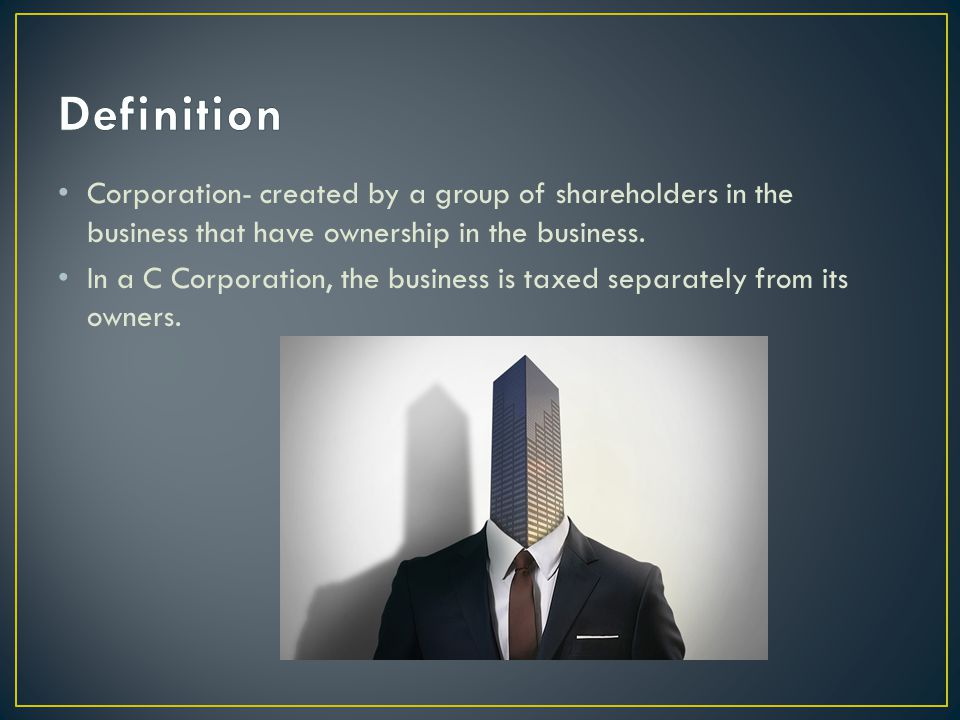 1.Limited Liability- for directors, shareholders, and employees 2.Perpetual Existence- shareholders keep business alive even if owner/founder leaves 3.Enhanced Credibility- suppliers and lenders 4.Unlimited Potential Growth- stock is sold with no limit with unlimited amount of shareholders 5.Tax Benefits- taxed separately of corporation, not taxed on income, therefore you can receive employee benefits