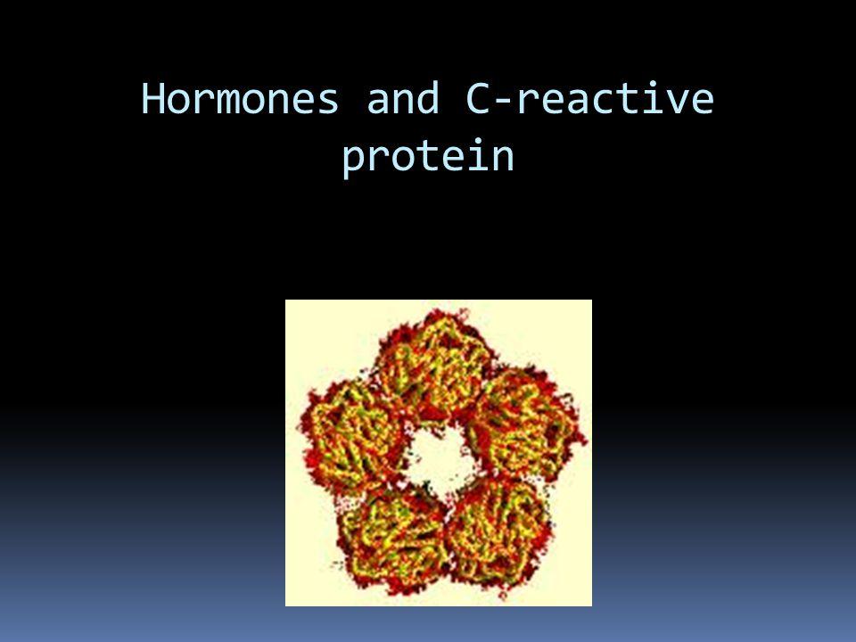 Hormones and C-reactive protein