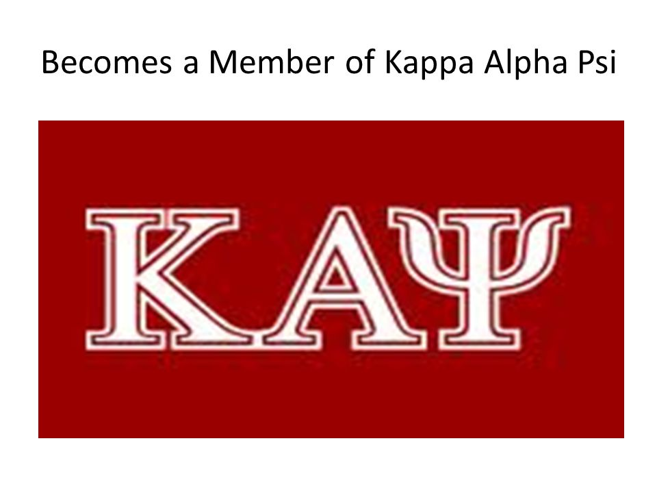 Becomes a Member of Kappa Alpha Psi