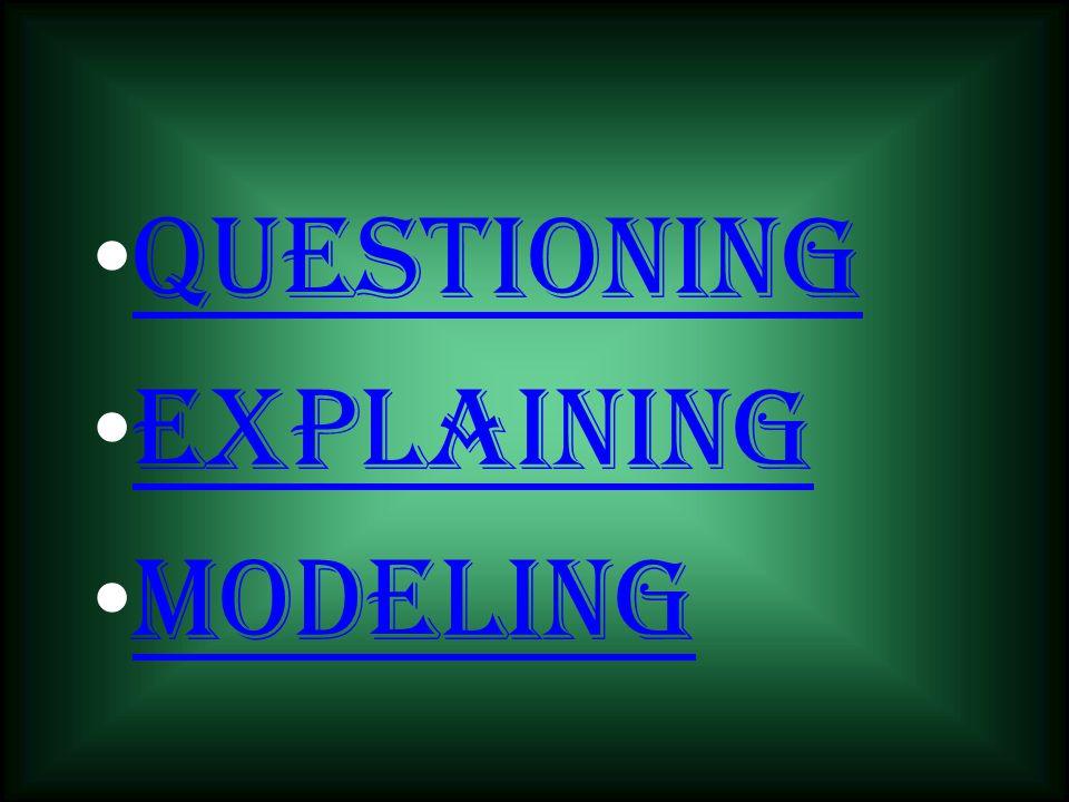 Questioning Explaining Modeling