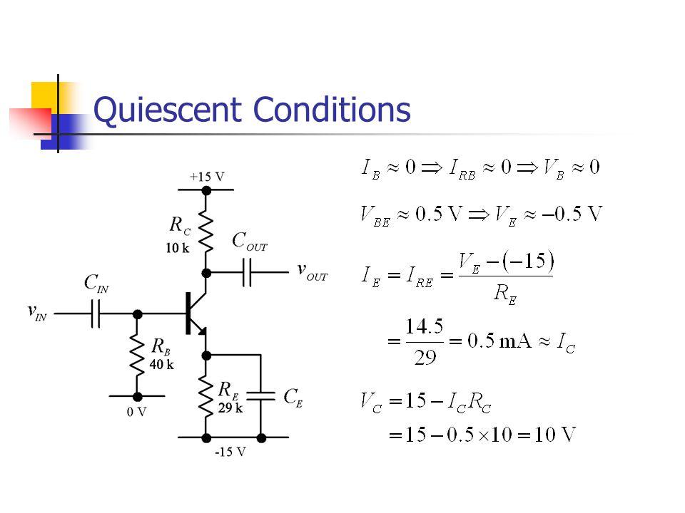 Quiescent Conditions