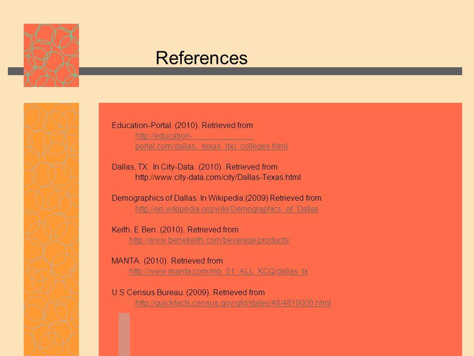 References Education-Portal. (2010).