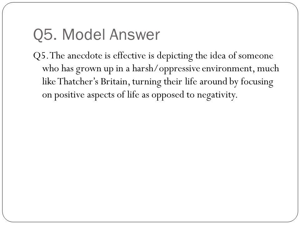 Q5. Model Answer Q5.