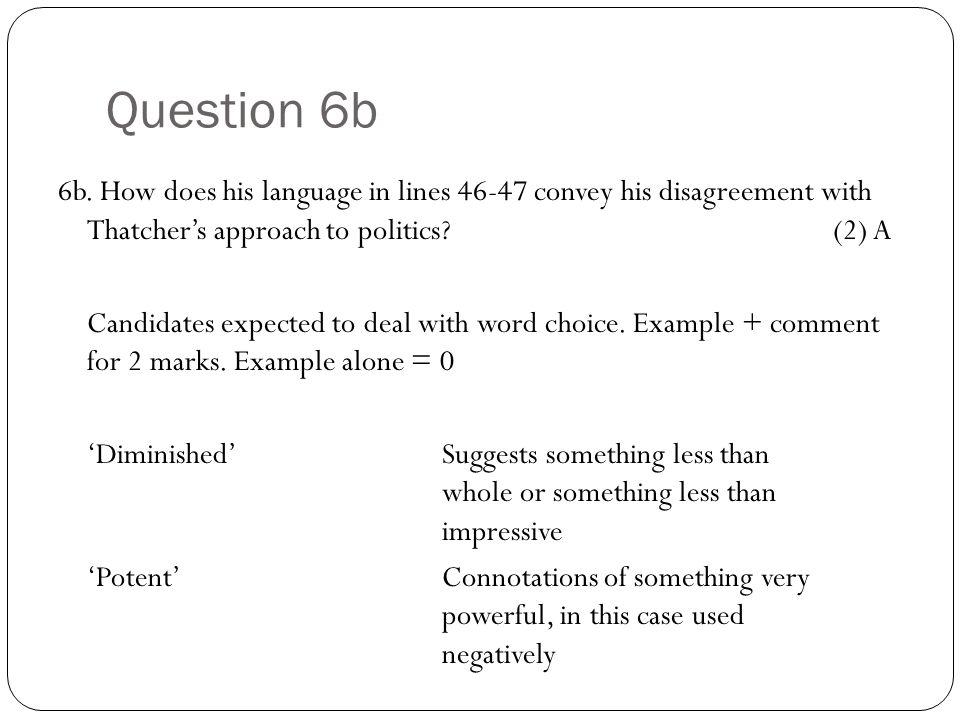 Question 6b 6b.