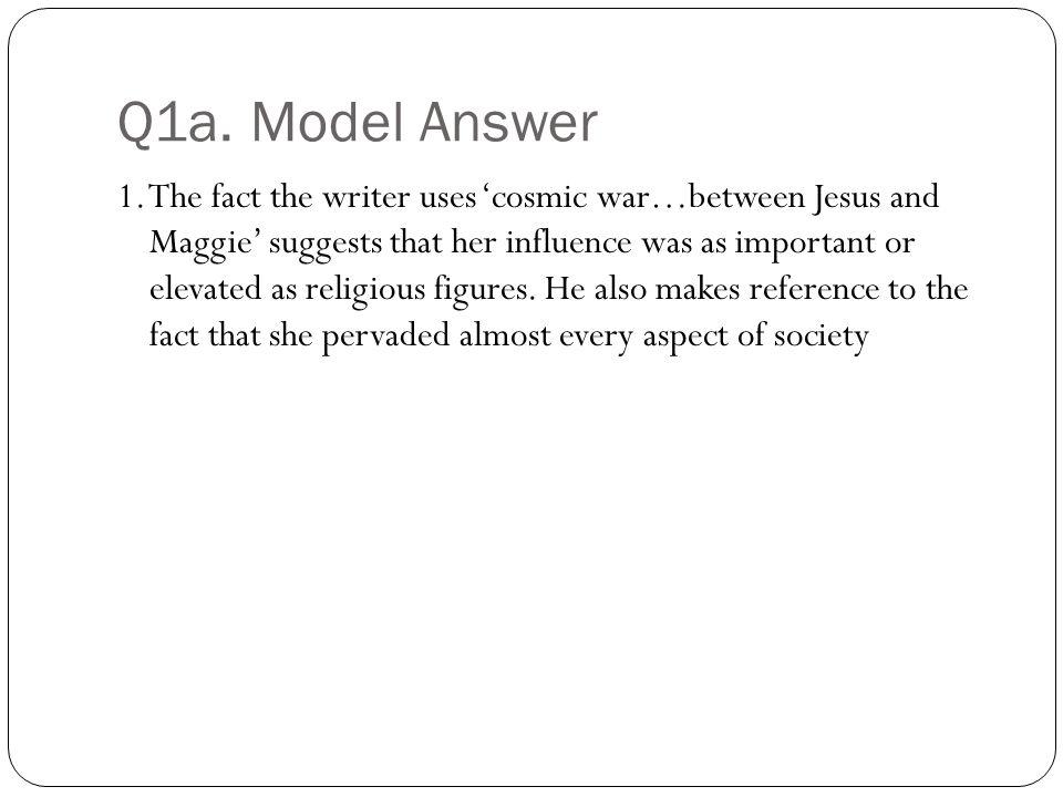 Q1a. Model Answer 1.