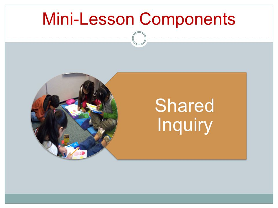 Mini-Lesson Components Shared Inquiry