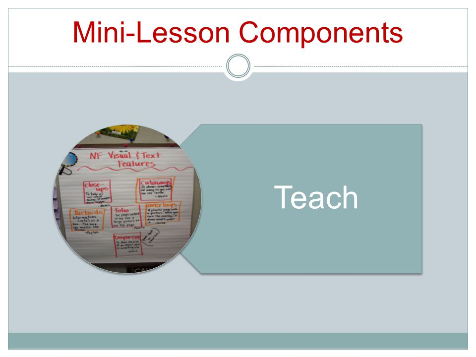 Mini-Lesson Components Teach