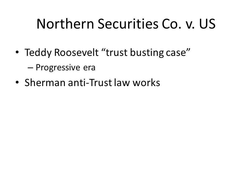 Northern Securities Co.v.