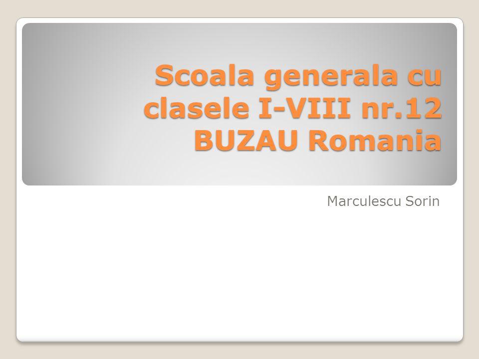Scoala generala cu clasele I-VIII nr.12 BUZAU Romania Marculescu Sorin