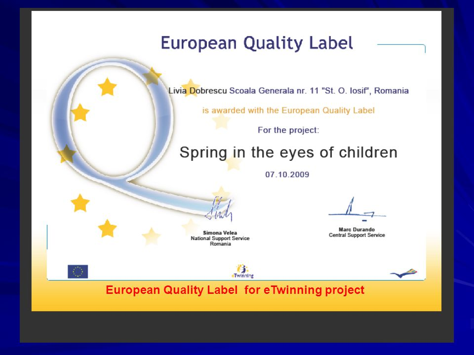 European Quality Label for eTwinning project