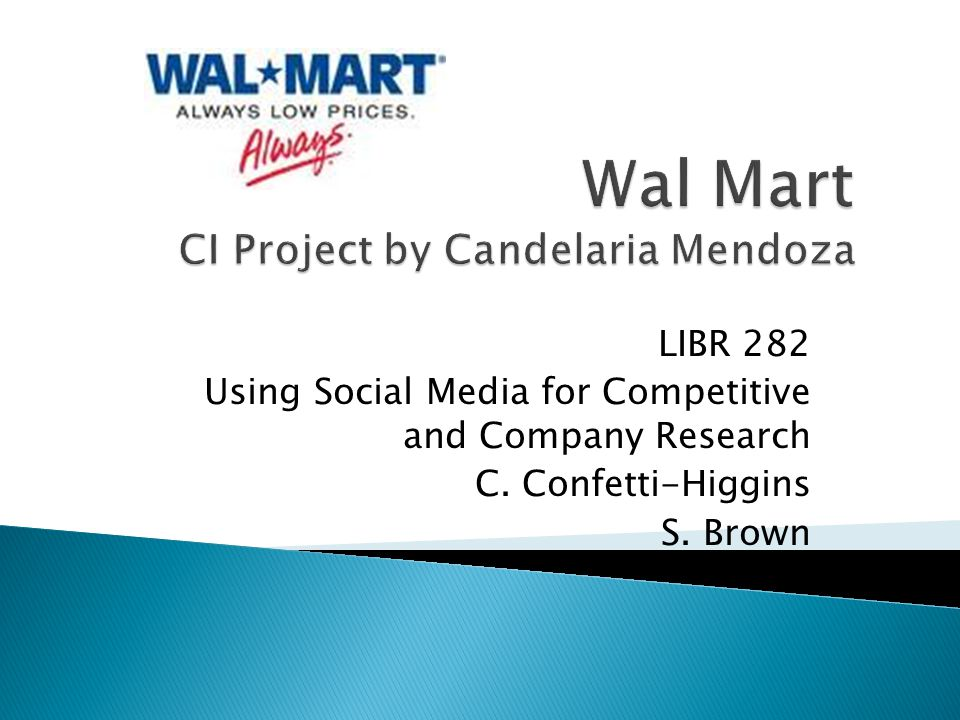I went on a journey through the internet and visited different sites to see what information was given about Wal-Mart.