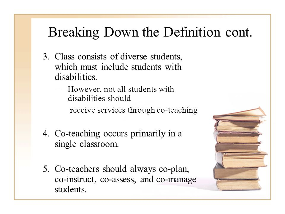Breaking Down the Definition cont.